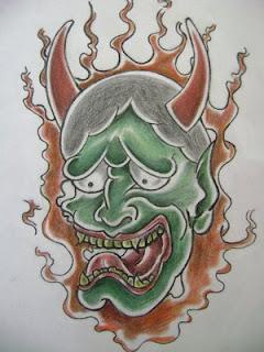 Japanese Tattoo, Tattoo Designs, Mask Tattoo, Hannya Mask Tattoos, Oni Tattoo, Japanese Mask Tattoos