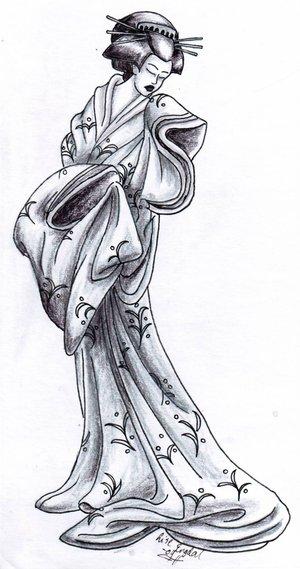 Japanese Geisha Tattoo Design Picture 3