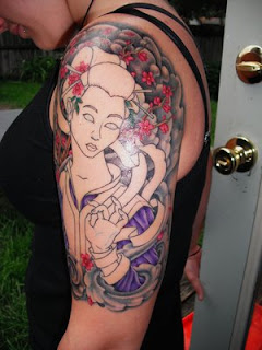 Japanese Tattoos Especially Geisha Tattoo Designs With Image Shoulder Japanese Geisha Tattoo For Female Tattoos Gallery Picture 1