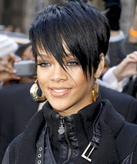 Female Celebrity Hair Style With Black Short Hair Cut With Image Rihanna's Short Hairstyle Gallery Picture 4