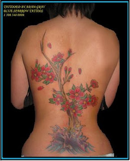 Back Piece Japanese Tattoos With Image Cherry Blossom Tattoo Designs Especially Back Piece Japanese Cherry Blossom Tattoos For Female Tattoo Gallery 2