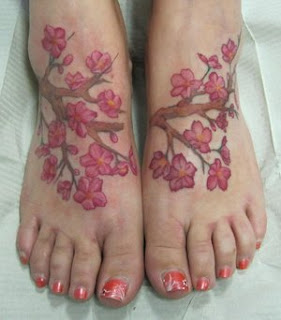 Foot Japanese Tattoos With Image Cherry Blossom Tattoo Designs Especially Foot Japanese Cherry Blossom Tattoos For Female Tattoo Gallery 2