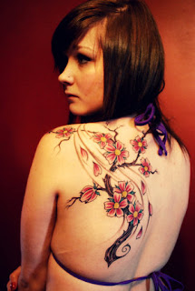 Upper Back Japanese Tattoos With Image Cherry Blossom Tattoo Designs Especially Upper Back Japanese Cherry Blossom Tattoos For Female Tattoo Gallery 6