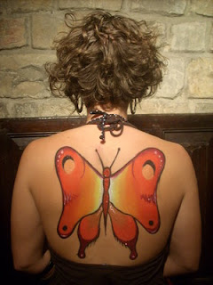 Picture Sexy Girls Tattoo With Back Piece Butterflies Tattoo Designs 2