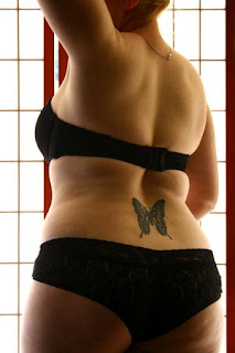 Beautiful Lower Back Butterfly Tattoos Picture 4