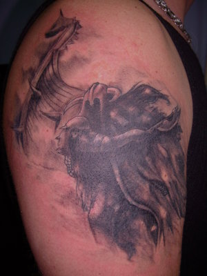 Art Shoulder Viking Tattoo 3