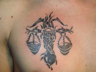 A Men Tattoo With Libra Tattoos Design Picture 3