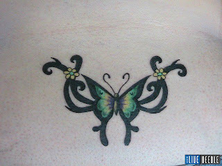 Lower Back Tattoos With Image Lower Back Butterfly Tattoo Designs With Butterfly Tribal Tattoo Picture 5
