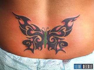Lower Back Tattoos With Image Lower Back Butterfly Tattoo Designs With Butterfly Tribal Tattoo Picture 2
