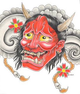 Japanese Hannya Mask Tattoo Design 3