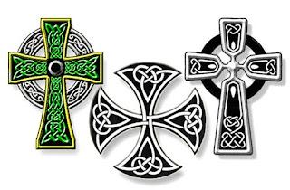 Celtic Cross Irish Tattoo Design