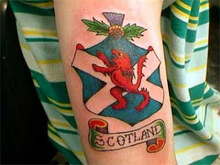 Lion Scottish Tattoo Design