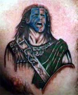 Warrior Scottish Tattoo Design