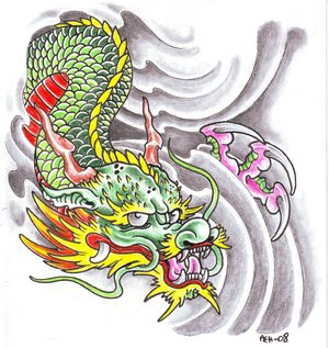 Traditional Japanese Dragon Tattoo Design 1