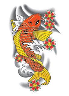 Beautiful Japanese Koi Fish Tattoo Designs 3