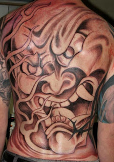 Beautiful Japanese Mask Tattoo 1