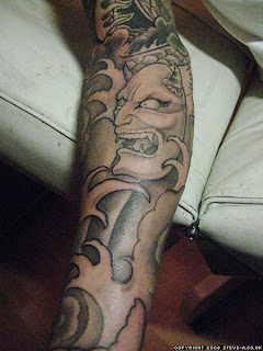 Japanese Demon Tattoo Sleeve