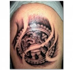 Aztec Upper Arm Tattoo
