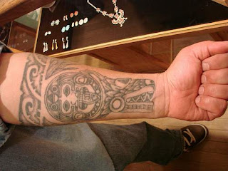 Aztec Arm Tattoo