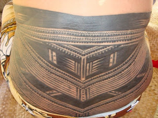 Lower Back Traditional Samoan Tattoo Design