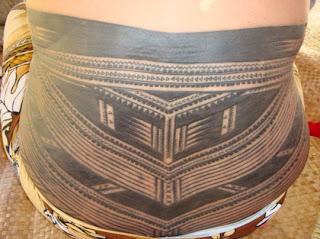 Lower Back Traditional Samoan Tattoo Design