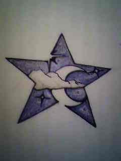 Star And Moon Tattoo Design