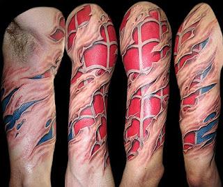Shoulder Spider 3D Tattoo Design