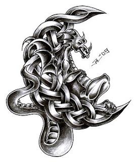 Celtic Dragon Tattoo Design 4