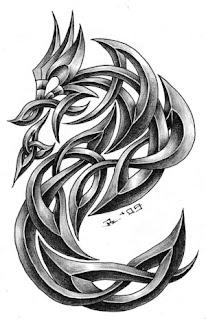 Celtic Dragon Tattoo Design 3