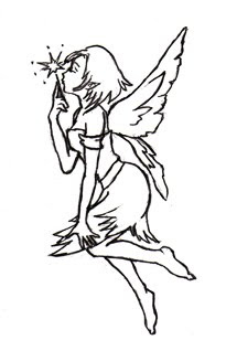 Fairy Tattoo Design 7
