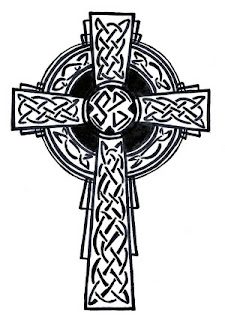 Celtic Cross Tattoo Design 7