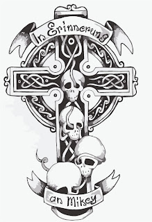 Celtic Cross Tattoo Design 6