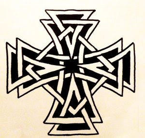 Celtic Cross Tattoo Design 3