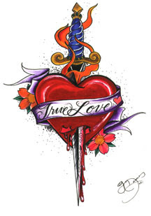 Heart Tattoo Design 4