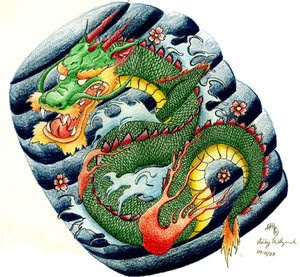 Japanese Dragon Tattoo Design 3