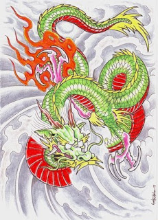Japanese Dragon Tattoo Design 1