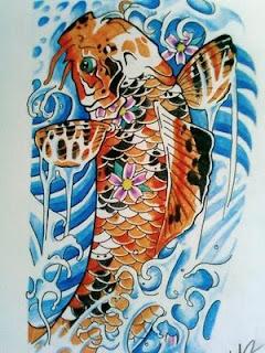 Tatatatta collection japanese koi fish tattoo designs for Japanese koi company