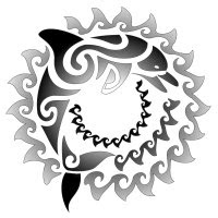 Tribal Dolphin Maori Tattoo Design