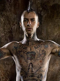 Travis Barker Hair Styles With Fanned Mohawk Hairstyles 1
