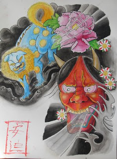 Japanese Tattoo With Image Japanese Mask Tattoos Especially Japanese Hannya Mask Tattoo Design 4