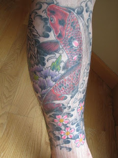 5.Gallery Japanese Tattoo Designs Specially Japanese koi Fish Calf Tattoo Image