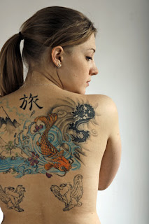 Beautiful Art of Japanese Koi Fish Tattoos With Image Japanese Koi Fish Backpiece Tattoo Designs Picture 3