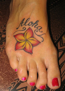 Women Tattoos With Hawaiian Tattoo Designs Especially Foot Hawaiian Flower Tattoo