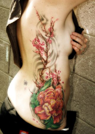 Design Flower Tattoos: Female Foot