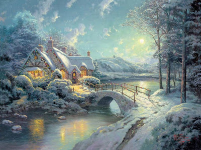 thomas kinkade christmas wallpaper. PHOTO: Thomas Kinkade