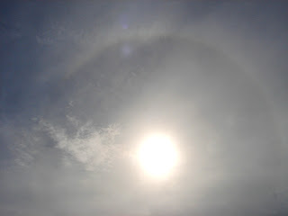 Solar halo at Hilton Head Island Beach
