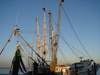 A shrimp boat--all I could think was Jen-nay