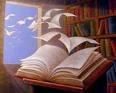 hojas de un libro salen volando