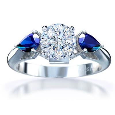 Sapphire Wedding Rings Etsy