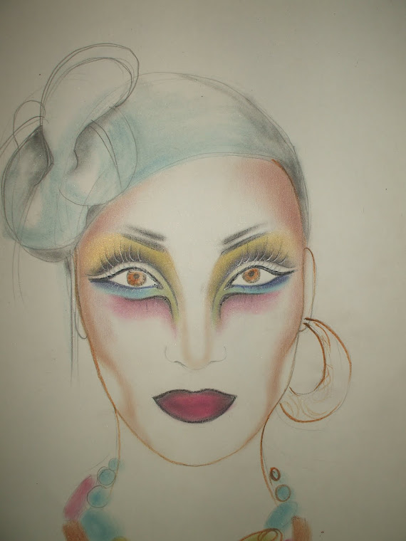 sketch-artistic make-up
